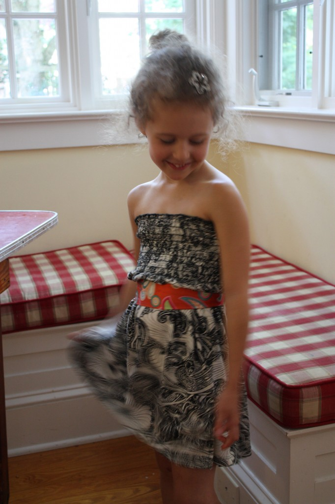strapless kids dresses