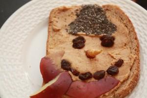 snowman sandwich