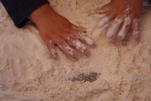 flour hands